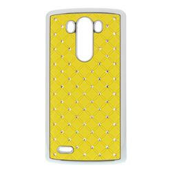 Starry Sky Rhinestone Hard Case for LG G3 D850 D855 LS990 - Yellow