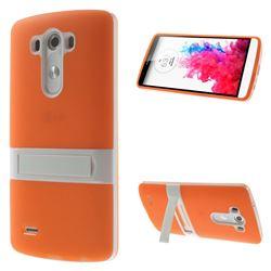 Detachable TPU & PC Kickstand Case for LG G3 D850 D855 LS990 - Orange