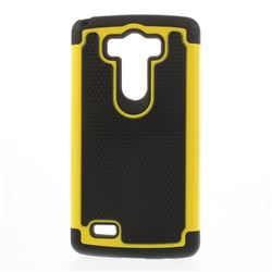 2 in 1 Football Texture Hybrid Case PC + Silicone Back Cover for LG G3 D850 D855 LS990 - Yellow