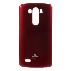 Mercury Glittery Powder TPU Case for LG G3 D850 D855 LS990 - Red