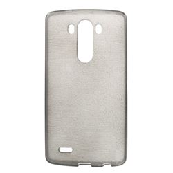 Inner Brushed TPU Case for LG G3 D850 D855 LS990 - Grey