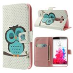 Sleeping Owl Leather Wallet Case for LG G3 D850 D855 LS990