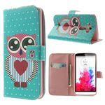 Lovely Owl Leather Wallet Case for LG G3 D850 D855 LS990