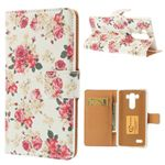 Peony Flowers Leather Case for LG G3 D850 D855 LS990