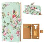 Cute Flowers Leather Case for LG G3 D850 D855 LS990