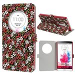 Quick Circle Floral Leather Smart Cover for LG G3 D850 D855 LS990 - Red
