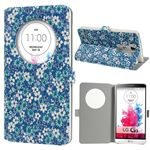 Quick Circle Floral Leather Smart Cover for LG G3 D850 D855 LS990 - Blue