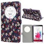 Quick Circle Floral Leather Smart Cover for LG G3 D850 D855 LS990 - Purple