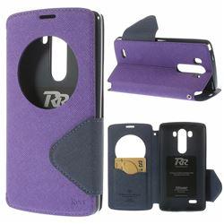 Roar Korea Fancy Diary Quick Circle Leather Flip Cover for LG G3 D850 LS990 - Purple