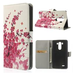 Plum Blossom Leather Flip Case for LG G3 D850 D855 LS990