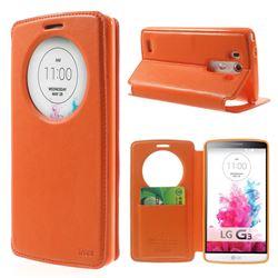 Roar Korea Noble Quick Circle Leather Flip Cover for LG G3 D850 D855 LS990 - Orange