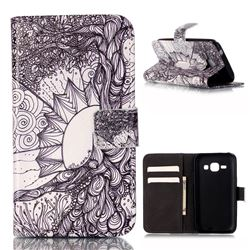 Old Tree of Life Leather Wallet Case for Samsung Galaxy Core Prime G360 G360V G360P G360F G360H