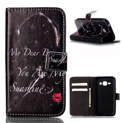 Red Lips Girl Leather Wallet Case for Samsung Galaxy Core Prime G360 G360V G360P G360F G360H