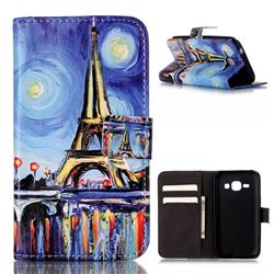 Painting Eiffel Tower Leather Wallet Case for Samsung Galaxy Core Prime G360 G360V G360P G360F G360H