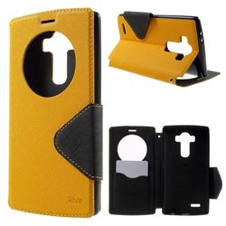 Roar Korea Diary View Leather Flip Cover for LG G4 H810 VS999 F500 - Yellow