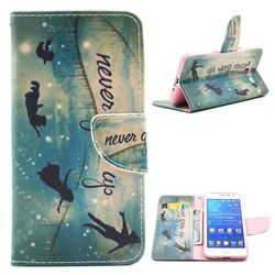 Green Dream Leather Wallet Case for Samsung Galaxy Grand Prime G530 G530H