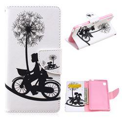 Dandelion Bike Leather Wallet Case for Sony Xperia M4 Aqua E2303 E2333 E2353