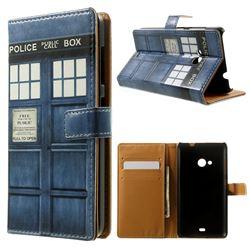 Police Box Leather Wallet Case for Microsoft Lumia 535 / Lumia 535 Dual SIM Nokia Lumia 535