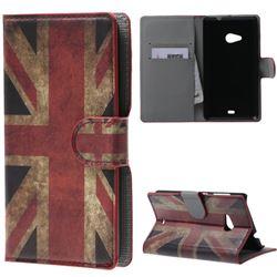 Retro UK Flag Leather Wallet Case for Microsoft Lumia 535 / Lumia 535 Dual SIM
