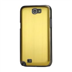 Brushed Aluminum Case Hard Case for Samsung Galaxy Note 2 N7100 Case / Note II N7100 - Gold