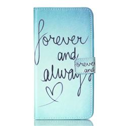 Never And Always Leather Wallet Case for Samsung Galaxy Note 5