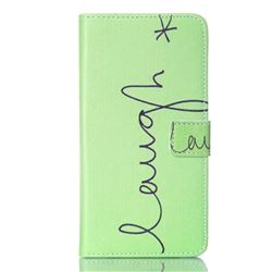 Simple Laugh Leather Wallet Case for Samsung Galaxy Note 5