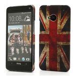 Retro UK Flag Plastic Case for HTC One M7 801e