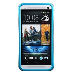 Slide-on Aluminum Metal Bumper for HTC One M7 801e - Baby Blue