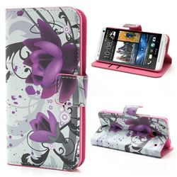 Lotus Flower Leather Wallet Case for HTC One M7 801e