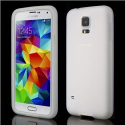 Soft Silicone Case for Samsung Galaxy S5 G900 - White