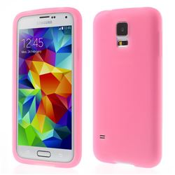 Soft Silicone Case for Samsung Galaxy S5 G900 - Rose