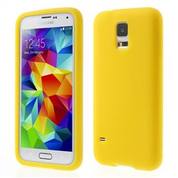 Soft Silicone Case for Samsung Galaxy S5 G900 - Yellow