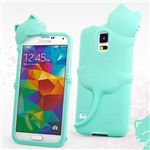 Hello Deere Diffie Cat Silicone Case for Samsung Galaxy S5 G900 - Tiffany