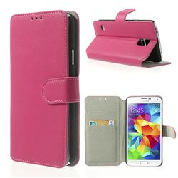 South Korea Style Leather Case for Samsung Galaxy S5 G900 - Rose
