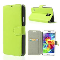 South Korea Style Leather Case for Samsung Galaxy S5 G900 - Green