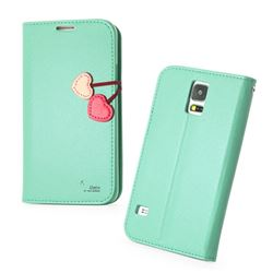 HelloDeere Cherry Series Leather Case for Samsung Galaxy S5 G900 - Tiffany