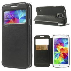Roar Korea Noble View Window Leather Case for Samsung Galaxy S5 G900 - Black