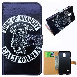 Sons of Anarchy Leather Wallet Case for Samsung Galaxy S5 G900