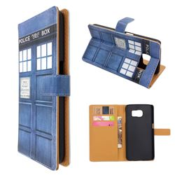 Police Box Leather Wallet Case for Samsung Galaxy S6 G920 G9200