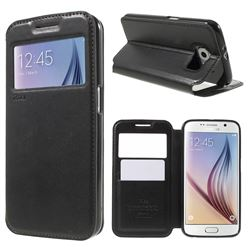 Roar Korea Noble View Leather Flip Cover for Samsung Galaxy S6 G920 - Black