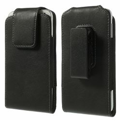 Leather Holster Pouch for Samsung Galaxy S6 G920 / S6 Edge G925 with 360 Degree Rotation Swivel Belt Clip