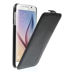 Litchi Leather Vertical Flip Cover for Samsung Galaxy S6 G920 - Black