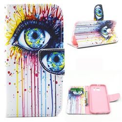 Eye Painting Leather Wallet Case for Samsung Galaxy S6 G920 G9200
