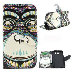 Orangutan Leather Wallet Case for Samsung Galaxy S6 G920 G9200