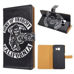 SOA Sons of Anarchy Leather Wallet Case for Samsung Galaxy S6 Edge G925