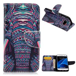 Trunk Leather Wallet Case for Samsung Galaxy S7 G930