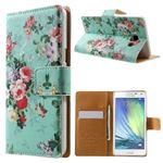 Cross Pattern Cute Flowers Leather Wallet Case for Samsung Galaxy A5 A500 A500F A5009