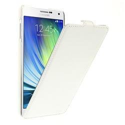 Litchi Leather Vertical Flip Cover for Samsung Galaxy A7 A700 A700F - White