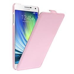Litchi Leather Vertical Flip Cover for Samsung Galaxy A7 A700 A700F - Pink