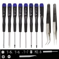 Screwdriver Opening Tools with Torx Screwdriver + Phillips Screwdriver + Slotted Screwdriver + Spanner Slotted Screwdriver + Tri-Wing Screwdriver + Tweezer